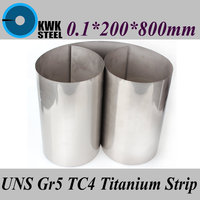 0 1x200x800mm Titanium Alloy Strip UNS Gr5 CT4 BT6 TAP6400 Titanium Ti Foil Thin Sheet Industry