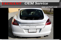 Car Styling Auto Accessories FRP Fiber Glass Rear Spoiler Fit For 2010 2012 Panamera 970 TAS Rear Trunk Spoiler Wing
