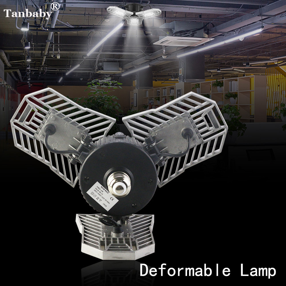 Led Deformable Radar Garage Light Motion Activated Ceiling: Tanbaby E27 60w High Intensity 6000LM Led Radar Deformable