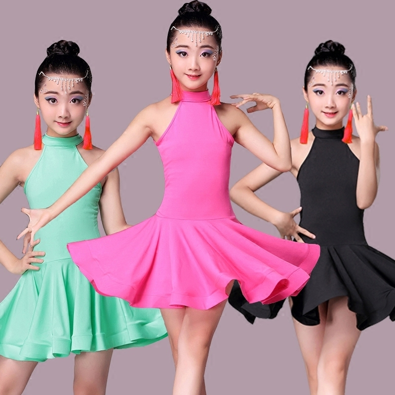 Latin Dance Dress for Girls Fashion Ballroom Dancing Dresses for Kids Dancewear Children Stage Performance Costumes