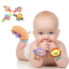 Baby Wrist Animal Rattle Toy Infant Plush Toys Best Baby Gifts Early Education oyuncak bebek baby spielzeug 0-12 monate baby boy(China)
