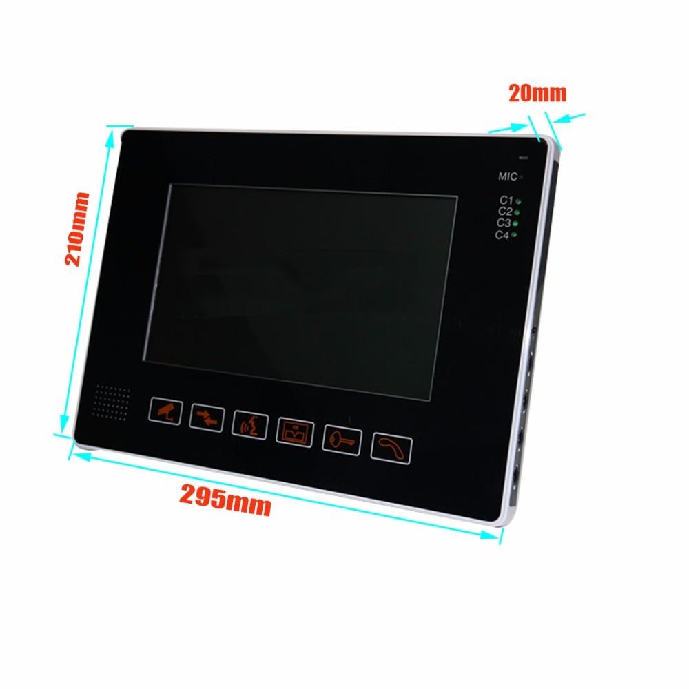 SmartYIBA 9`` LCD screen video doorphone sperakerphone intercom system 9 icnh monitor+RIFD camera In Stock FREE SHIPPING