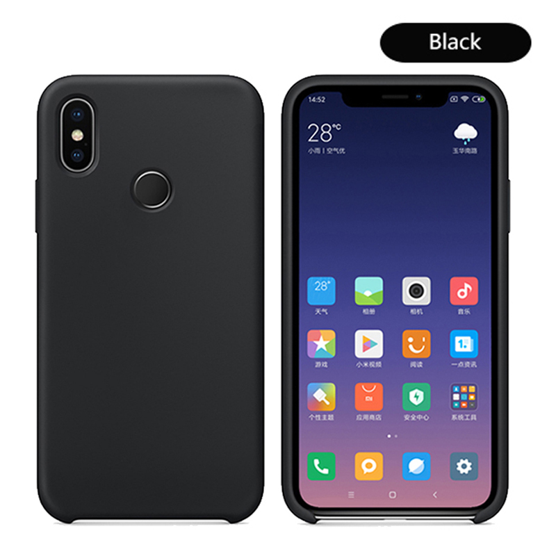 Original With Logo Silicone Phone Case For Xiaomi Mi 8 8 SE Mi 6X A2 Mix 2S Case Official Cover For Xiaomi Cases With Retail BoX (19)