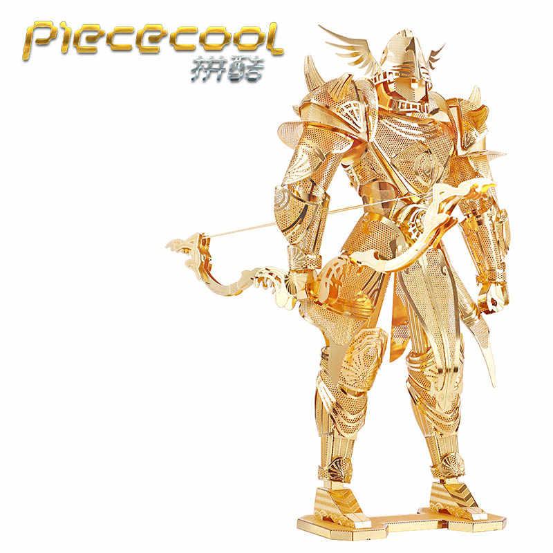 Piececool 3D المعادن الألغاز فارس نماذج الأسود فارس الأحمر الرعد DIY تجميع نموذج أطقم DIY 3D الليزر قطع نموذج لغز لعب