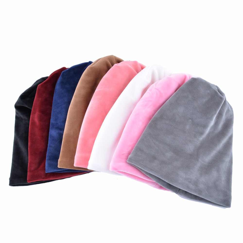 83a14dacfdc93 ... Winter hats for women beanies autumn cap Velvet thick warm hat girls  caps lady Double Layer