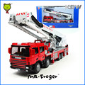 Mr.Froger Platform Fire Engine Modle alloy car model Refined metal Fire vehicles truck Decoration Classic Toys KDW Fire Rescue