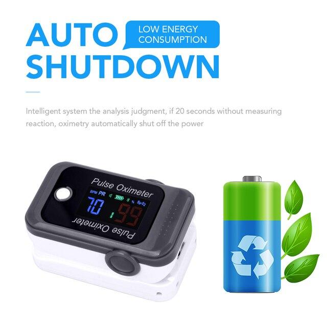 OLIECO Bluetooth Fingertip Pulse Oximeter OLED Blood Oxygen Saturation Meter SPO2 PR Oximetro de dedo Family Health Care Tool 1