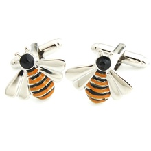 Free Shipping ! YH-1908 Novelty Animal Bee Cufflinks, Penguin,Fox,Dog,Bear Cufflinks-Factory Direct Selling