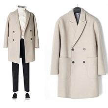 جديد لعام 2019 معطف رجالي مقاوم للرياح معطف للرجال جاكيت غير رسمي موضة ملابس رجالية من الصوف معطف طويل للرجال