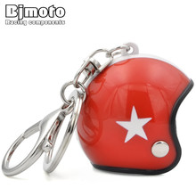 BJMOTO Fashion Car Motorcycle Helmet Keychain Key Chains Mini Pendant Keyring Men Motor Accessories