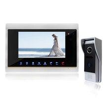 YSECU 7 «проводные Ночь Визуальный Видео-Телефон Двери Цвет Дверной Звонок Домофон Главная Безопасность TFT ЖК-Монитор Водонепроницаемый 1200TVL 1V1