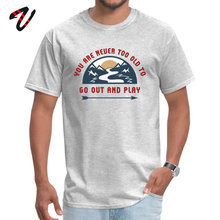 Adult Tshirt Adventure Go Out And Play Top T-shirts Print Style Terror Funny Crew Neck Cotton Design Tops T Shirt for Men Summer