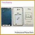 Original painel frontal + Mid placa + porta da bateria Back tampa da caixa para Samsung Galaxy nota N7000 i9220 habitação caso, Frete grátis