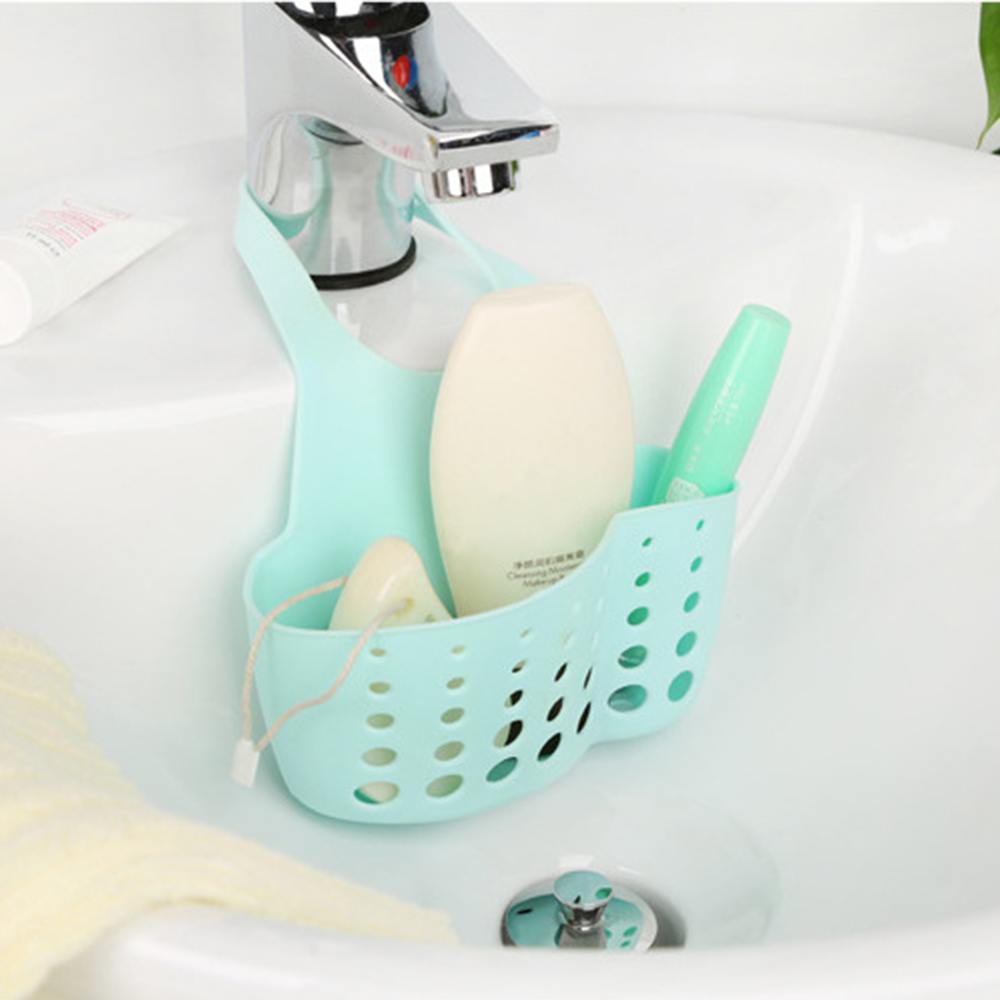 Hot Kitchen Sink Storage Basket Caddy Bath Hanging Leaky Shelf ...