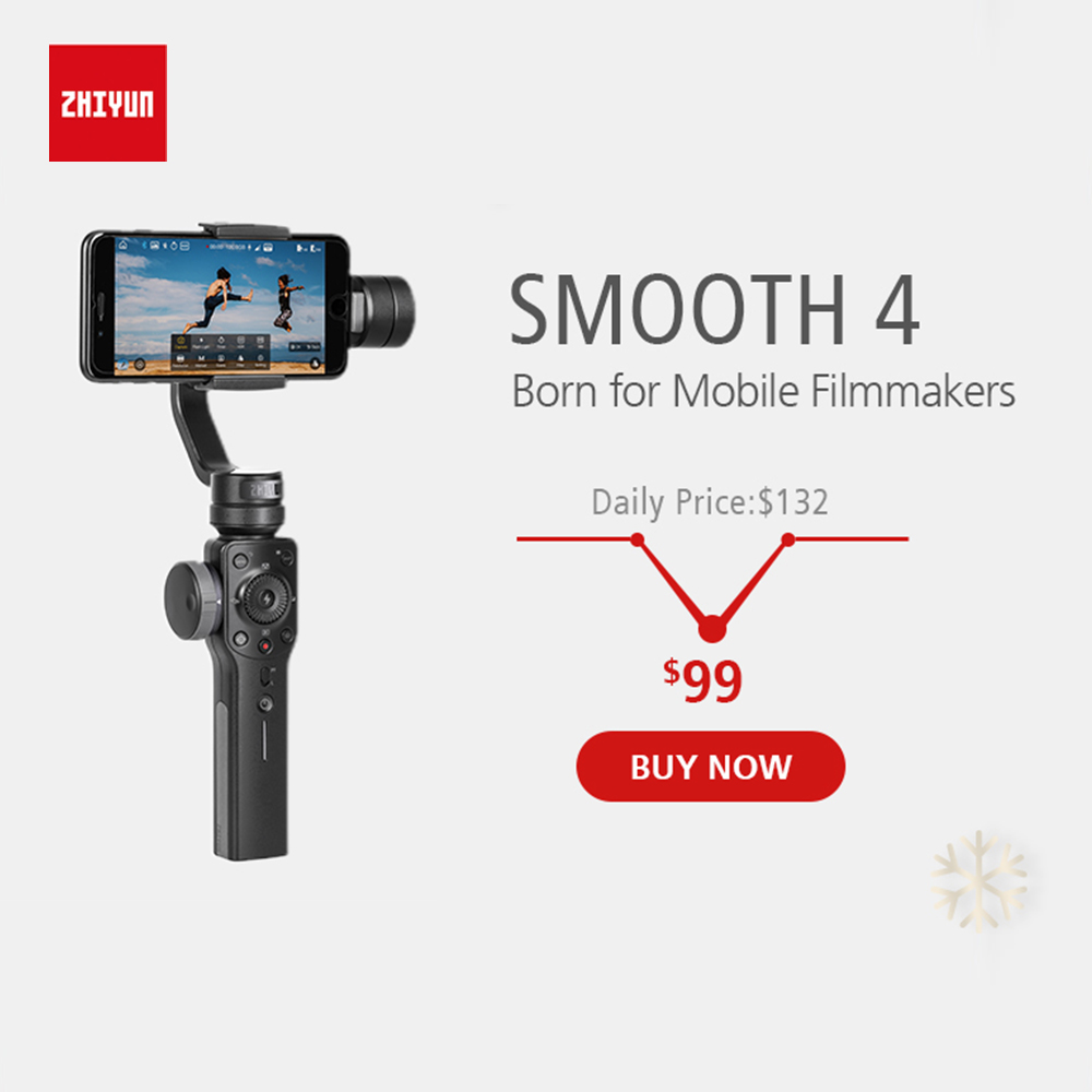 ZHIYUN Ufficiale Liscia 4 3-Axis Handheld Gimbal Stabilizzatore per Smartphone iPhone X 8 Più di 7 6 SE Samsung galaxy S9, 8,7, 6