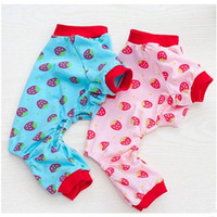 Lovd Lovf 2017 New Cute Duckling Pet Dog Cat Clothes Hot Sale Strawberry Pattern Cotton Pajamas