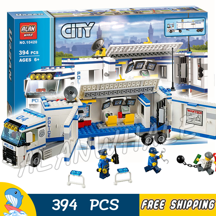 394pcs City Police Mobile Police Unit New 10420 Building Blocks Action Figures Model Boys Girls Kids Toys Compatible With lego patrulla canina with shield brinquedos 6pcs set 6cm patrulha canina patrol puppy dog pvc action figures juguetes kids hot toys