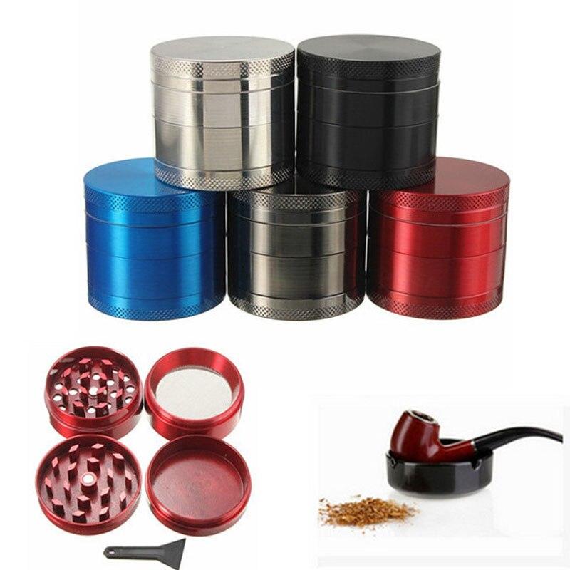 4-layer 40MM Wholesale Price New Aluminum Herbal Herb Tobacco Grinder Smoke Grinders Smoking tool