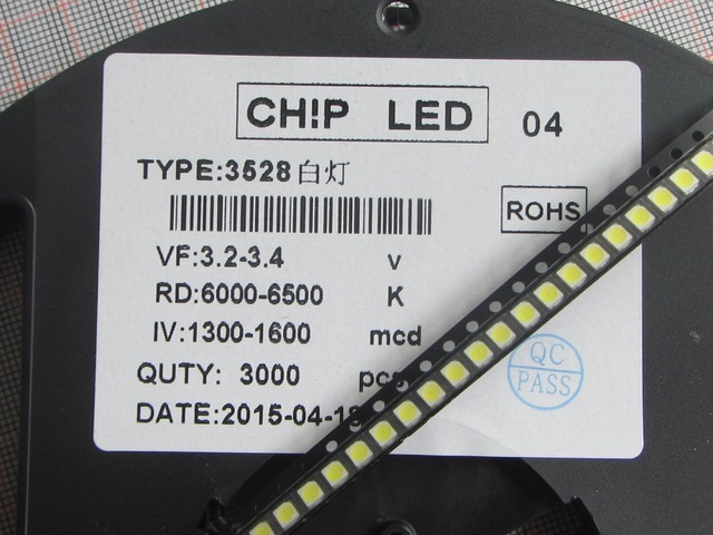 110pcs FOR LG Innotek <font><b>LED</b></font> <font><b>LED</b></font> Backlight 1210 3528 <font><b>2835</b></font> <font><b>1W</b></font> 100LM Cool white LCD Backlight for TV TV Application image
