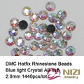 1440 pcs ss6 Cristal AB DMC Hotfix Strass strass Para Artesanato Roupas Suprimentos Flatback Rodada Ferro Em Diamantes De Vidro DIY