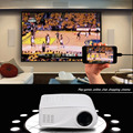 X6 Projector 80 Lumens 1080P Full HD LED Projector Contrast Ratio:1000:1 Projection with HDMI VGA AV Port Remote Controller