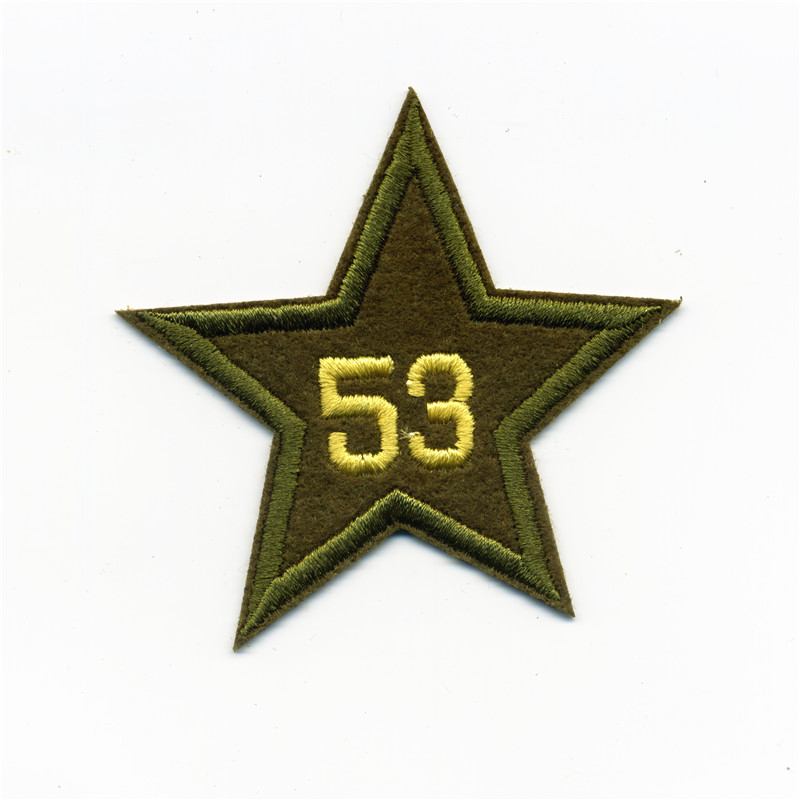 Bomber Jackets Tarmac Stars Army College Style Embroidery Patches Iron On Or Sew Fabric Sticker For Clothes Badge DIY 7.5cm