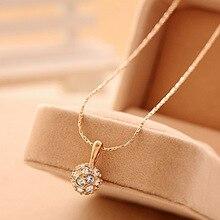 Ювелирные изделия оптом хрустальный шар кулон передача бисера ожерелье Женская маленькая цепь ожерелье ожерелья и подвески# N44