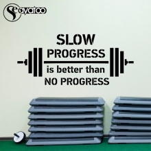 Progress Motivational Quote Vinyl Wall Sticker Decal Sports Gym Fitness Office Stickers 57x130cm