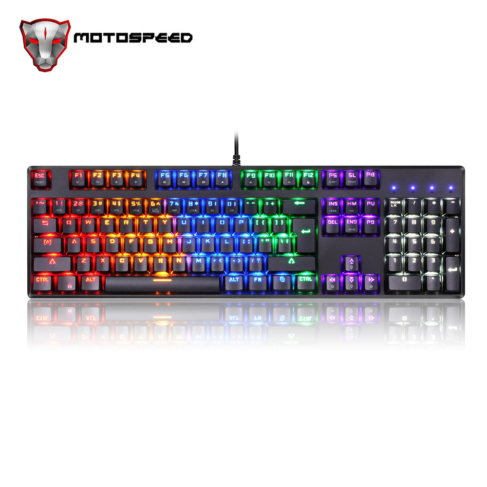 все цены на Motospeed CK96 USB Wired Gaming Mechanical Keyboard with Colorful LED Backlit Red/Blue Switch онлайн