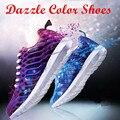 2017 Nueva Adulto Unisex Dazzle Color Entrenadores Casual Zapatos de Los Hombres de Verano Transpirable Deporte Ligero antideslizante Zapatillas Mujer