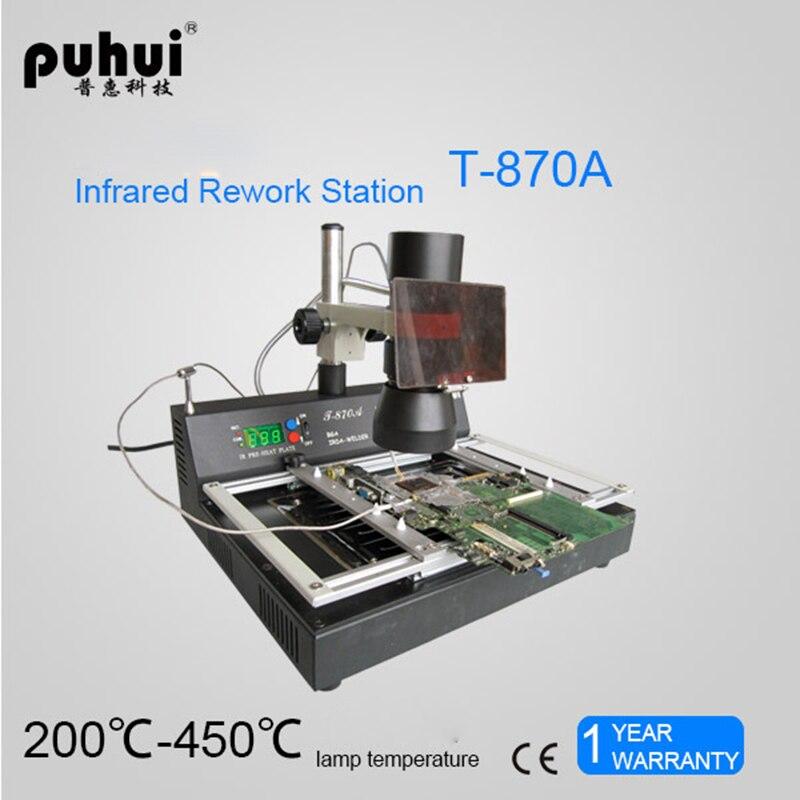Machine Reflow Welding IRDA Infrared 110V Station Rework 230V BGA Oven Welding Infrared Station 870A PUHUI T BGA