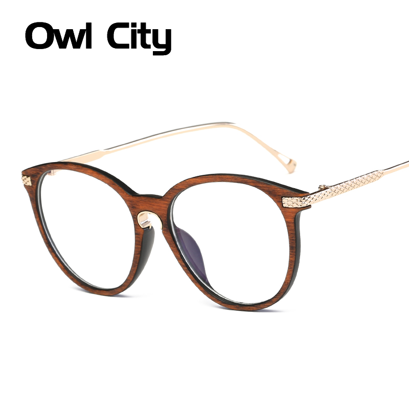 Classic Anti Blue Ray Oval Eyeglasses Brand Designer Women Man Unisex Eyeglass Frames For Female Male  de grau