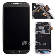 Replacement 100% original LCD diaplay Touch screen with frame For Samsung Galaxy S4 i9505 i9515 i337 i9500 Assembly freeshipping
