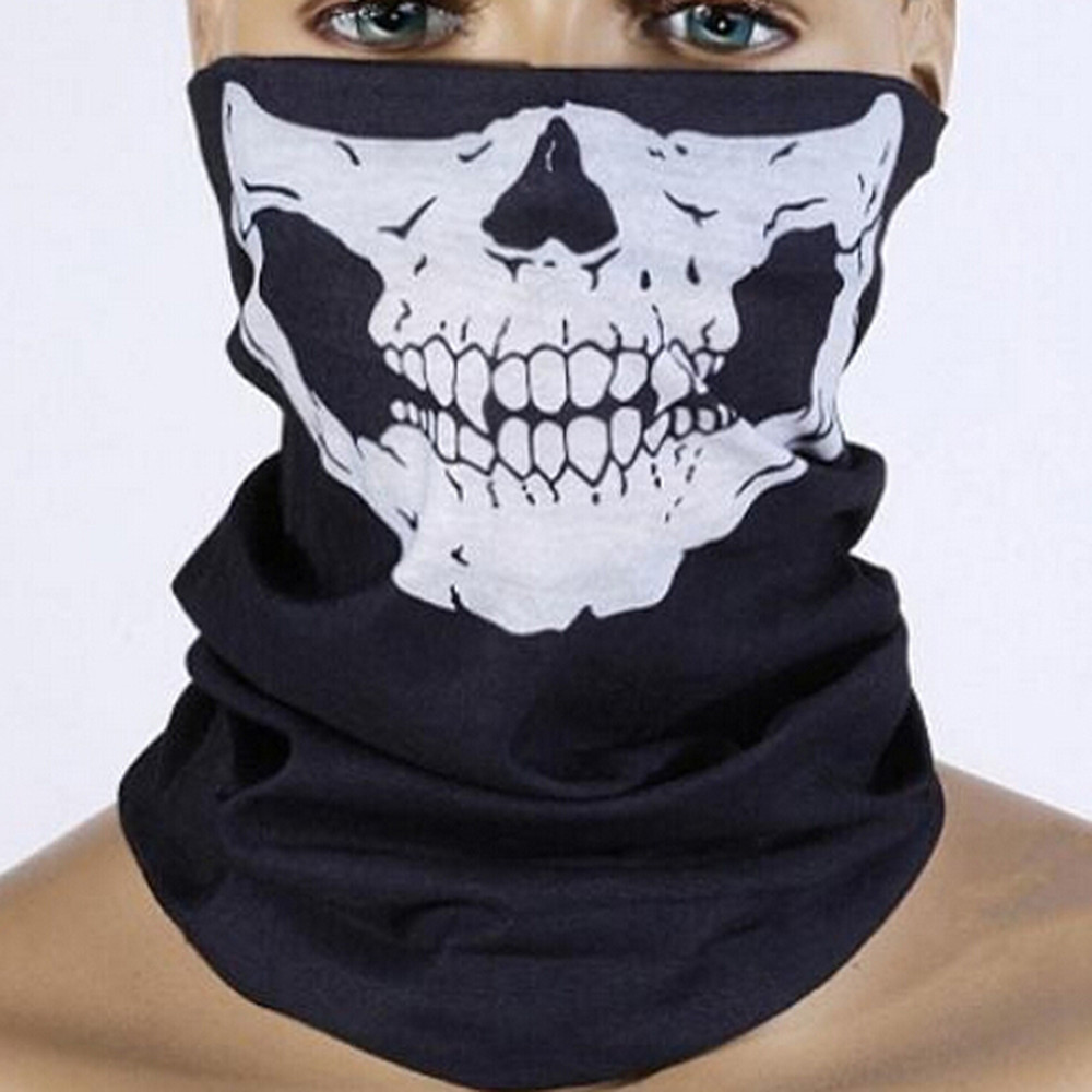 Scarves Novelty Skull Wicking Seamless Washouts Scarf Fashion Cool Outdoor Ride Bandanas Sport Face mask Motorcycle bike Scarf hot sale halloween scarf cool skull design adults multi function ski sport motorcycle biker scarf half face mask sport headband