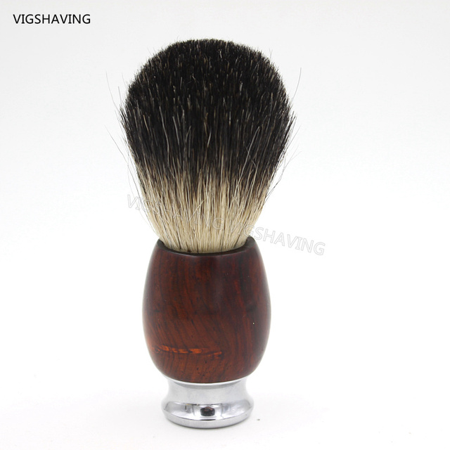 Metal handle and Cocobolo wood Wood Black Pure Badger hair Men Shave Brush