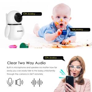 Image 4 - 1080P Draadloze Wifi Camera Infrarood Home Security Twee Weg Intercom Hd Ip Camera Babyfoon Auto Tracking Bewakingscamera