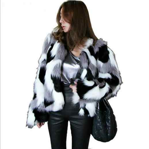 Vetement/женские пальто 2019 больших размеров, женские зимние норковые шубы, женские утепленные меховые винтажные короткие куртки из искусственного лисьего меха G470