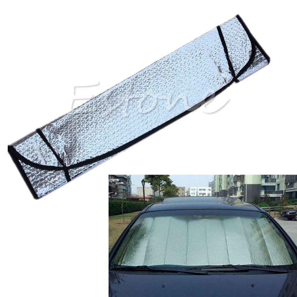 Reversible Chrome /& Gold Front Window Windshield Sun Shade Accordion Car Std Sz