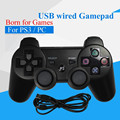 Usb wired game controller para sony ps3 controlador playstation 3 dualshock para sony play station gamepad joystick joypad para pc 3