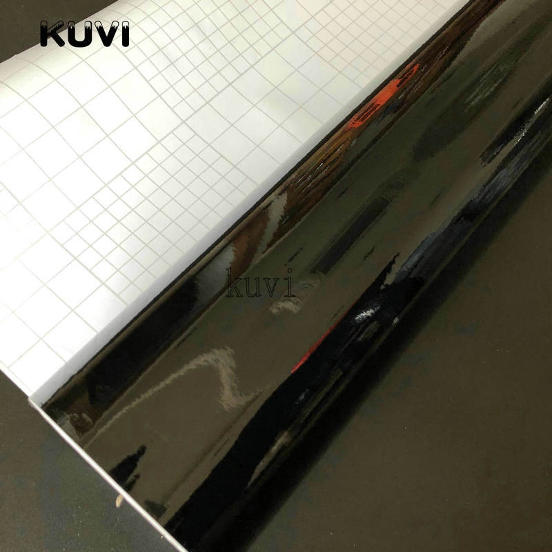 Image 4 - 152CMX30CM Bright Glossy Black Vinyl Car Wrap Car Motorcycle Scooter DIY Styling Adhesive Film Sheet With Air Bubble Stickers-in Car Stickers from Automobiles & Motorcycles