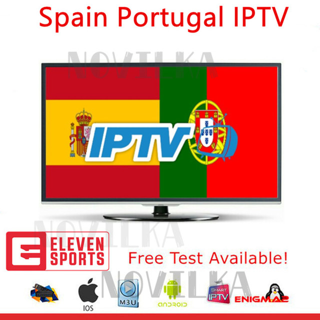 Best Stable 1 Year IPTV Portugal Spain IPTV Subscription 500+Live 700 Free VOD include eleven sport for Android Box M3U Smart TV