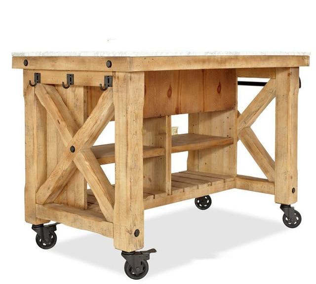 Tianqi mobili country americano legno credenza, ferro battuto ...