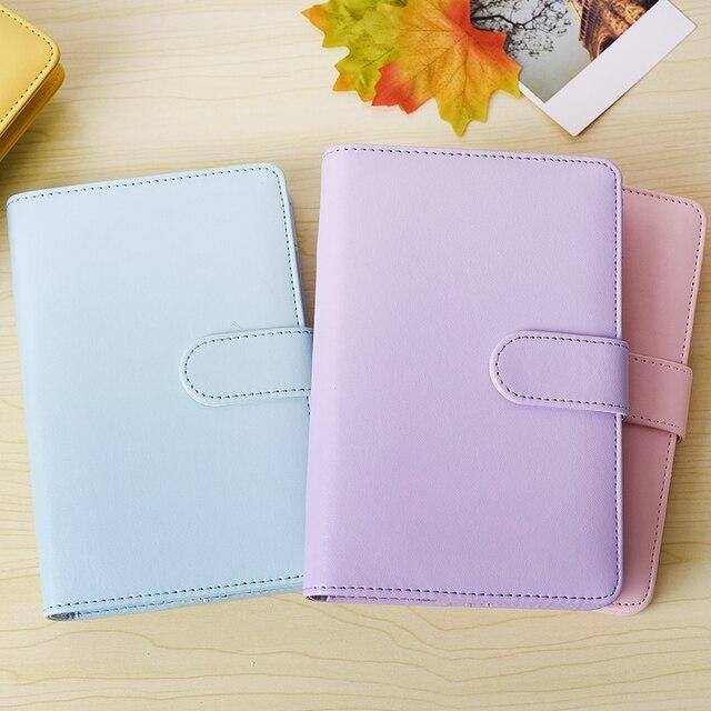 2017 Macaroon Diary Journal Notebook Leather Office Supplies Spiral Ring  Binder Agenda Notebook Cute Kawaii Planner
