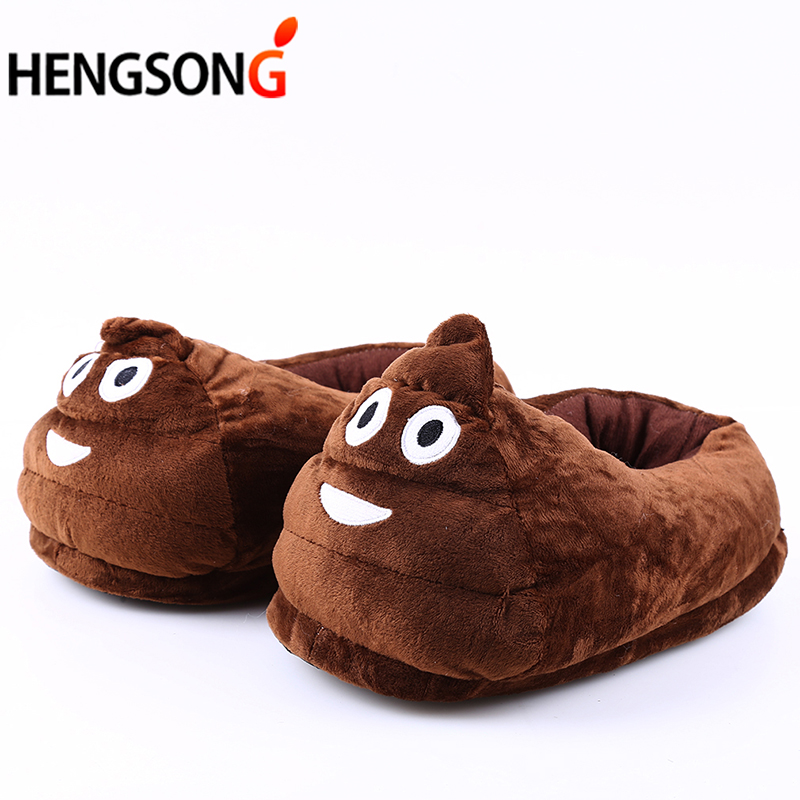 Family Slippers Funny Winter Shoes Women Men Kids Plush Slippers Indoor House Shoes Cute Warm Home Shoes Emoji Slippers OR986082 qweek women home animal slippers fur indoor rabbit slippers warm ladies cute funny adult slippers female slide house shoes