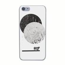 525G Calculating a Jump Over The Moon Print Hard Transparent Case Cover for iPhone 4 4s 5 5s 5c SE 6 6s Plus Thin Style