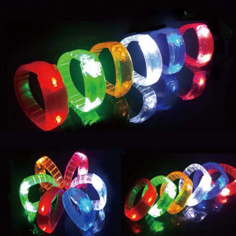Röststyrning blinkande armband mini ledd ljus led armband - Semester och fester - Foto 1