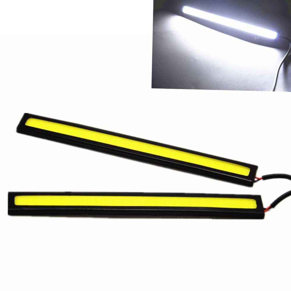 1Pcs Car-styling Ultra Bright 12W LED Daytime Running lights DC 12V 17cm 100% Waterproof Auto Car DRL COB Driving Fog lamp