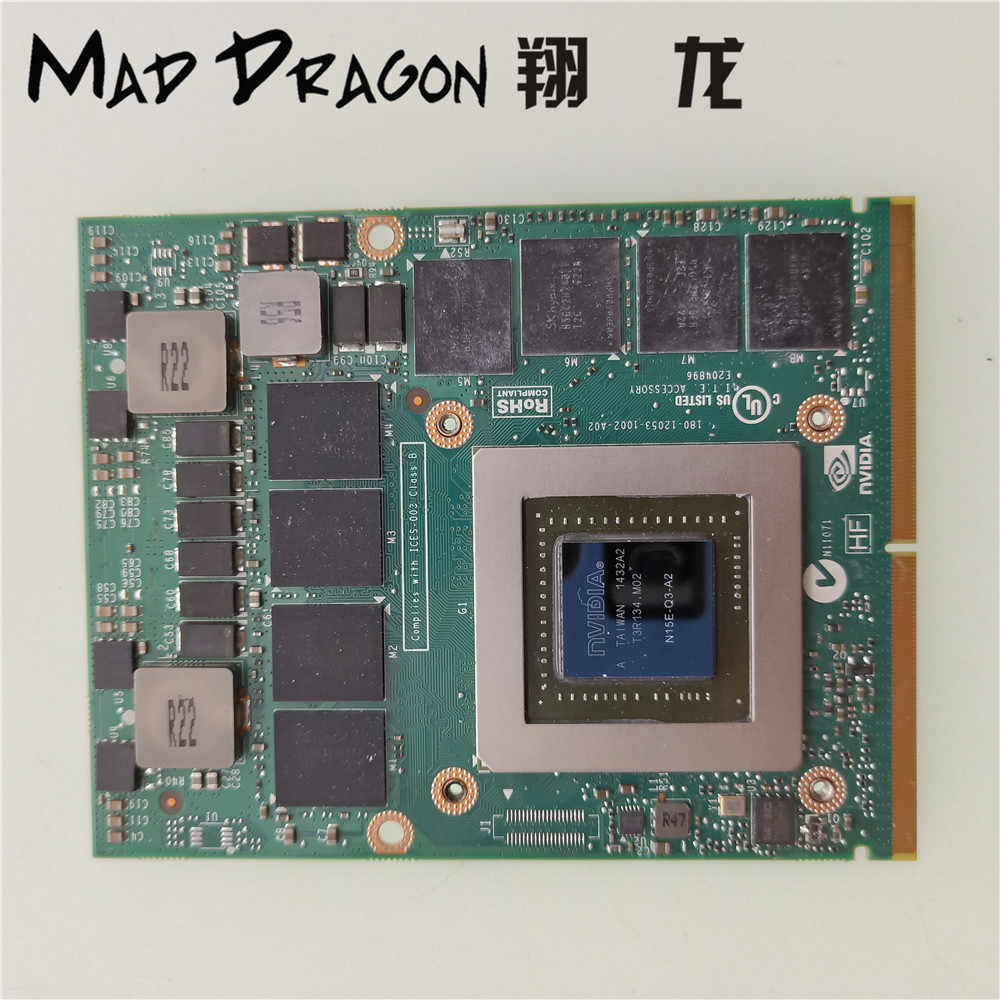 MAD DRAGON Brand Video Graphics Card for Dell M6800 HP ZBOOK 17 G1 G2  N15E-Q3-A2 GPU NVIDIA QUADRO K4100M 4GB GDDR5 MXM III 3 0