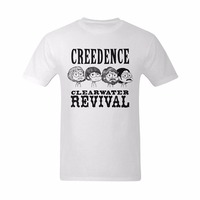 Summer Mens T Shirt 2017 New Fashion T Shirt Creedence Clearwater Revival Funny Cartoon Character Slim
