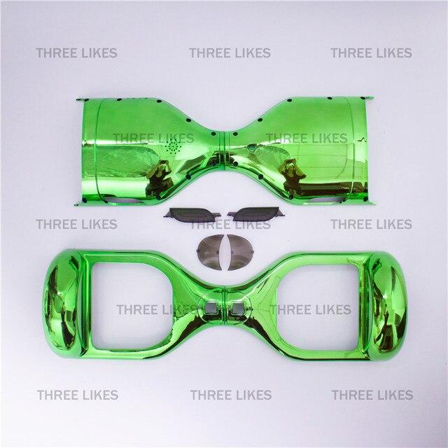 """Зеленый хром замена оболочки для 6,5 """"ХОВЕРБОРДА два колеса самобалансирующийся Интеллектуальный скутер электронная для одноколесного велосипеда Моноцикл"""